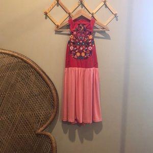 Mamie Ruth embroidered dress medium